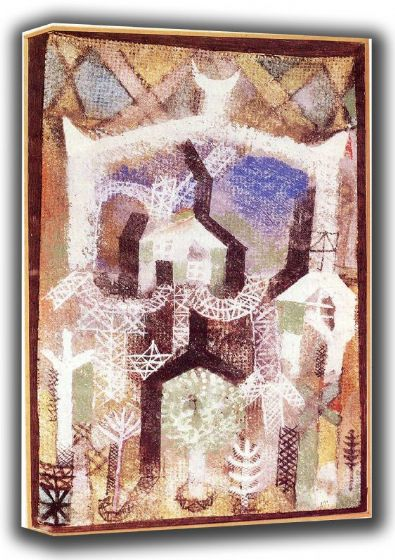 Klee, Paul: Summer Houses (1919). Fine Art Canvas. Sizes: A4/A3/A2/A1 (001457)